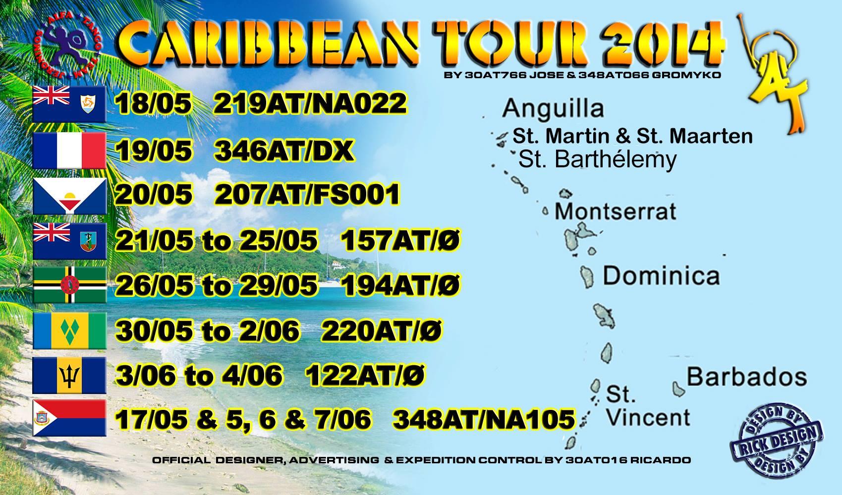 Caribbean IOTA Tour 2014